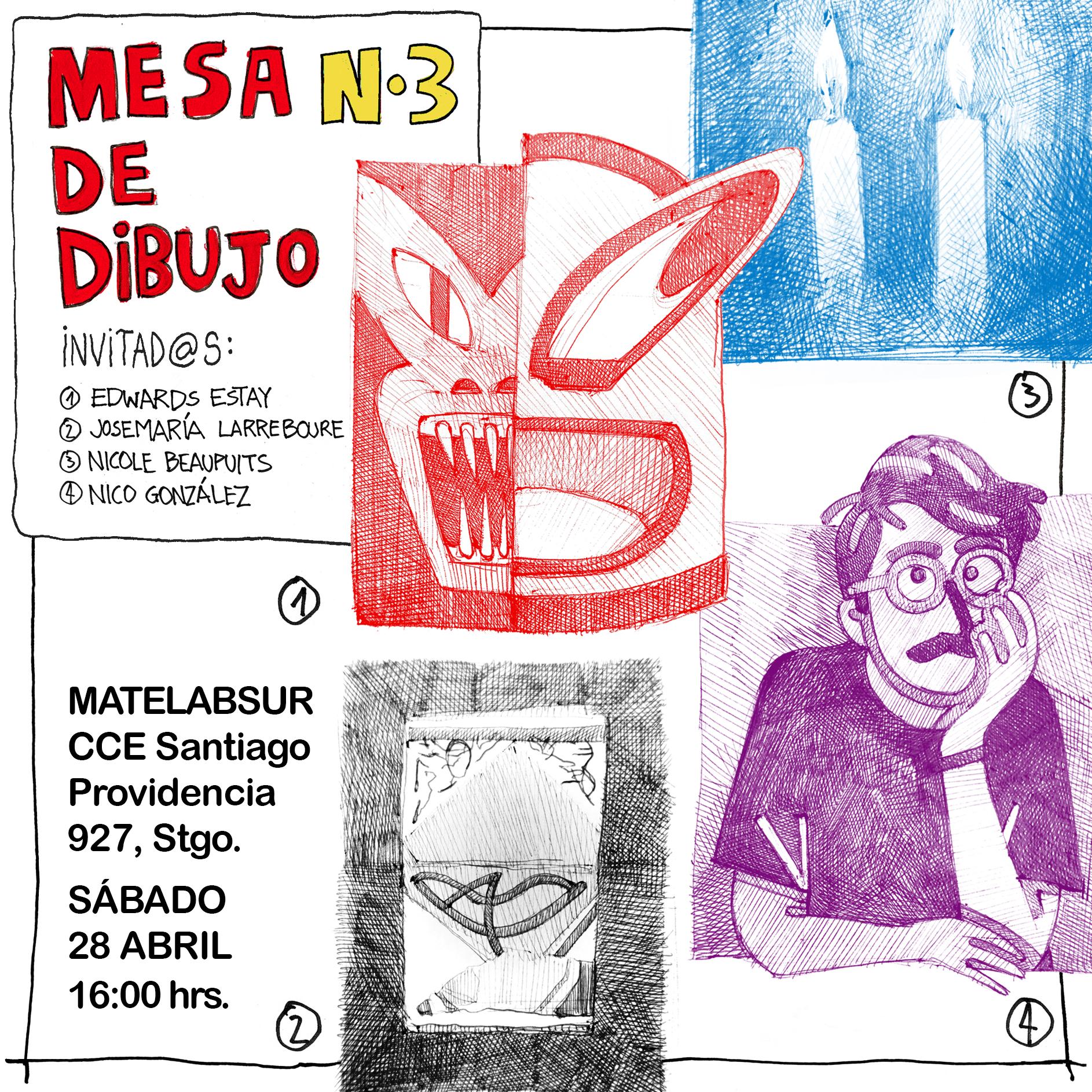Mesa de Dibujo 3 - Invitación evento cuadrado